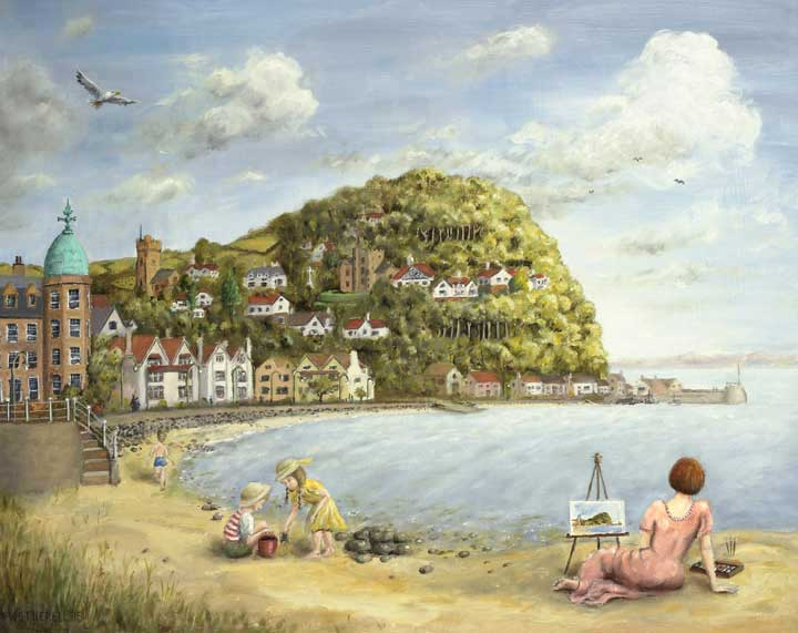 painting of Minehead Bay