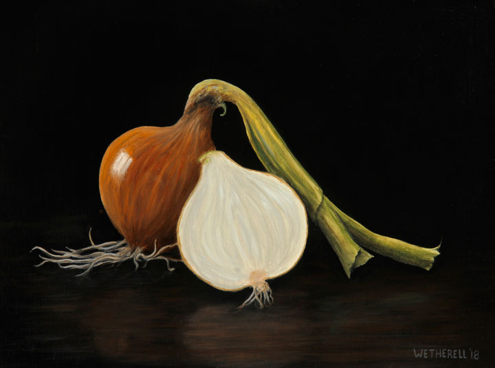 Wetherell onion painting