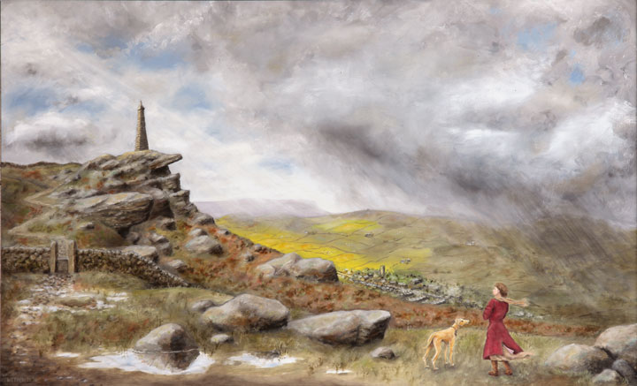 painting of Wainman's Pinnacle Cowling by Tim Wetherell